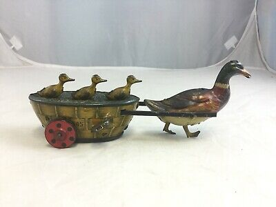 Antique 1903 Lehmann German Paak-Paak Quack Quack Tin Duck Wind Up Toy