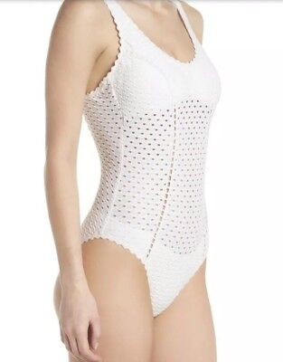 16a05a1700b ROBIN PICCONE Women's One Piece Swimsuit in White ( Ivory) size 10 NEW $146