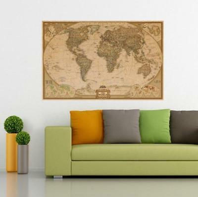 World Map Retro Poster Picture Art Vintage Home Office Wall Decor Paper Gift 1Pc