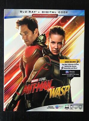 Ant-Man and the Wasp (Blu-ray + Digital) 2018 w/ Slipcover NEW