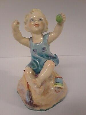 Royal Worcester Figurine Girl Month Edition Porcelain Beach Sunday Easter gift