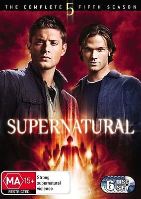 Supernatural Season 5 DVD 2010 6-Disc Set Brand New Sealed