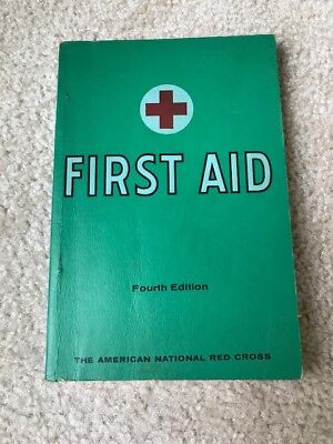 First Aid Book 4th Ed 1957 Red Cross 1971 Printing Green Softcover Vintage