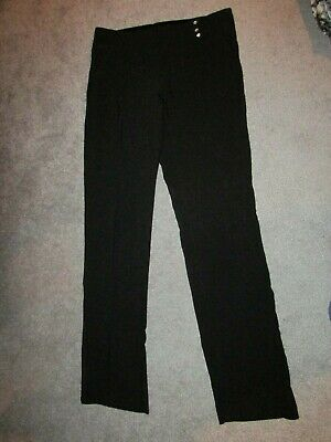 Body Central Black Dress Pants Size Small W Rhinestones Across Waist