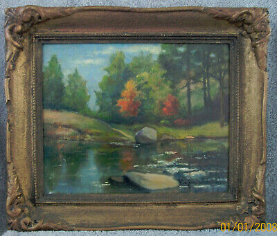 "VIRGINIA W. SCHOONBABER LISTED AMERICAN IMPRESSIONIST ARTIST OIL PAINTING 10""x8"""