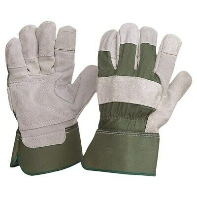Extra Heavy Duty Leather Gardening Safety Gloves 12 Pairs