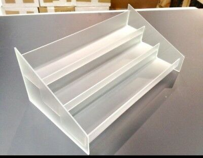 Countertop Acrylic Display 3 Tier Display Frosted -MEDIUM-