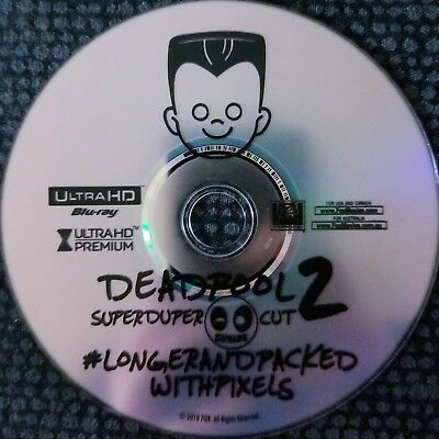 Deadpool 2 II 4K Blu Ray Extended Super Duper Cut X Force X Men Marvel Comics