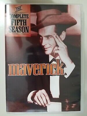 Maverick The Complete Fifth Season DVD 2014 3 Disc Set Case has Crack