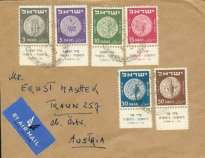 Israel Michel Nr. 22-27 with TAB on airmail cover gh78