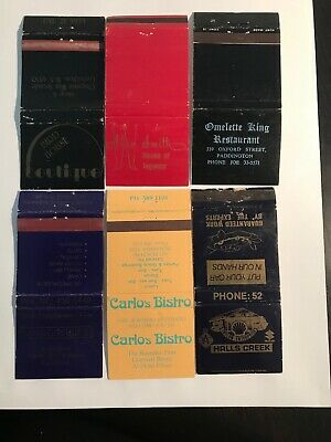 6 Matchbook Match Covers Boxes From Western Australian Businesses Perth 4
