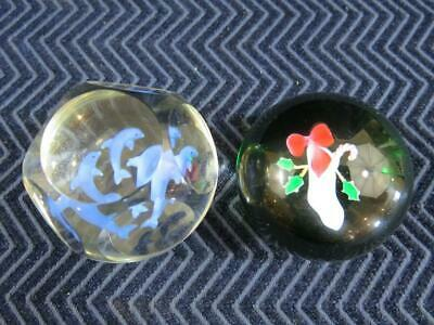 (2) Art Glass Paperweights, Both Signed - Who Did These?  Retail $500
