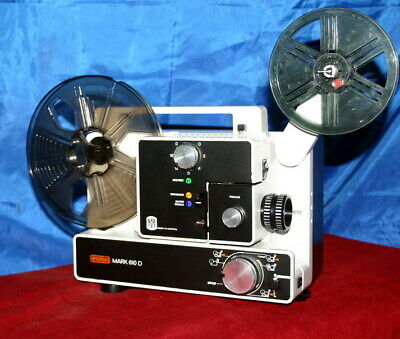 Super & Standard 8Mm Silent Movie Projector. Eumig 610D  New 100W Lamp A1