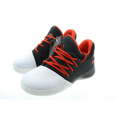 3554346a313c Adidas Kids Youth James Harden Vol 1 Basketball Shoes Trainers Black Scarlet