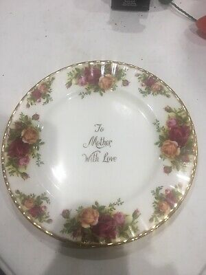 Royal Albert Old Country Roses Mothers Day Plate  Bone China - Made in England