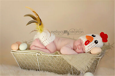 Boys Girls Hat Crochet Knit Costume Newborn Baby  Photo Photography Prop Outfit