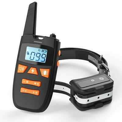 Dog Training Collar with Remote Shock Collars Rechargeable Waterproof US