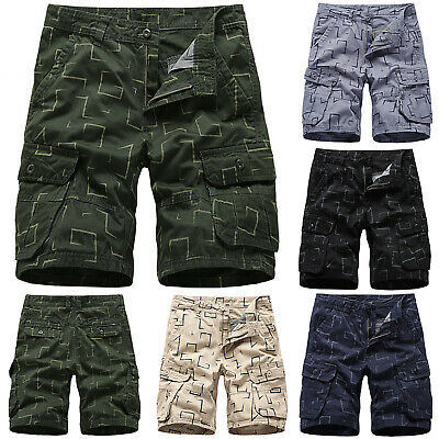 Mens Military Army Combat Cargo Shorts Work Trousers Summer Pocket Short Pants