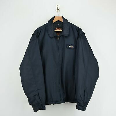 Vintage Schott NYC Men's Security Dark Blue Bomber Jacket XL / XXL