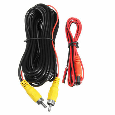 6m Video Cable RCA Port + 1.5m Power Cable for Car Monitor Rear View Camera