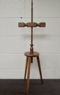 Mission Style Peg leg Floor Candle Holder w/ screw post & adjustable double arm