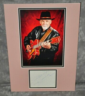 """Duane Eddy """"Twang"""" Autographed Signed Index Card Matted 12"""" x 16"""" w/ HP Photo"""