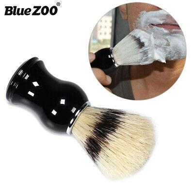 Men Shaving Bear Brush Bristle Hair Shave Wood Handle Razor Barber Tool New