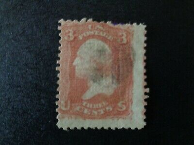 1867 George Washington U.S.A.postage stamp 11x13 grill