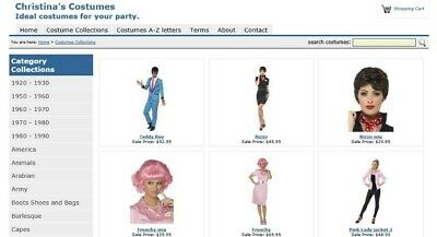 Fancy Dress Costume Business Online Sales and Hire