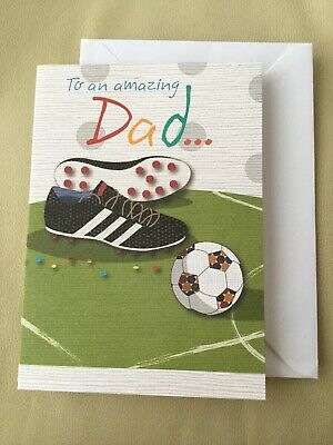 Happy Fathers Day (To An Amazing Dad) Football With Boots. New ⚽️⚽️⚽️