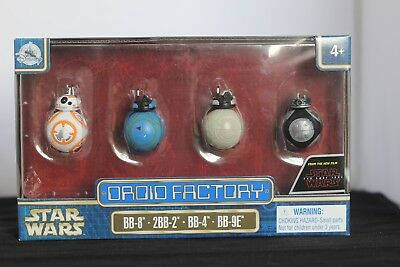 Star Wars The Last Jedi Droid Factory Bb-8 2Bb-2 Bb-4 Bb-9E Disney Parks Pack