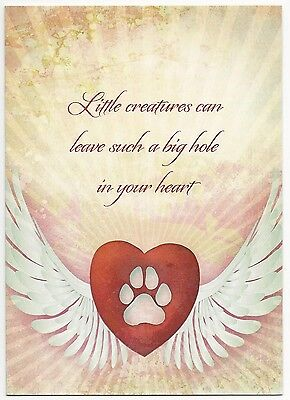 Loss Of Pet >> Pet Sympathy Card Loss Of Dog Or Cat Made W Earth Friendly