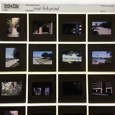 36 Original 35mm slides - Empire West Apts 1970s West Hollywood Los Angeles