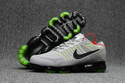 NIKE AIR MAX 2018 VAPORMAX Shoes Men's -Running Training -Classic Grey and green