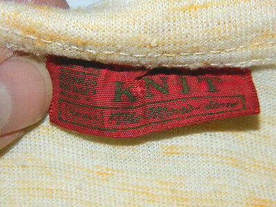 1591e68018a18d VTG SEARS KINGS ROAD MENS STORE KNIT TANK TOP Blank 1970 S 70 S RAINBOW  STITCH -  39.99