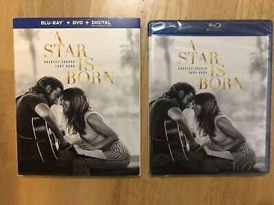 A Star Is Born (2018) (Blu-ray/DVD/Digital) BRAND NEW w/Slipcover.Factory Sealed