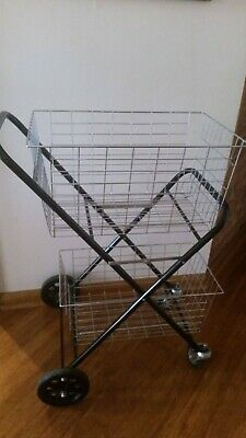 Shopping Trolley, Double Basket, Excellent condition, folds down