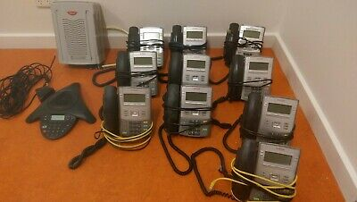 Avaya Business Phone System - 1120E IP Deskphones (x10)  PLUS Conference Phone