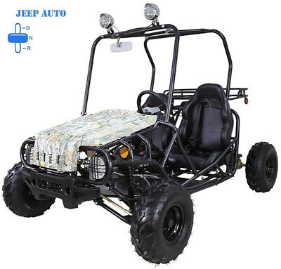 NEW Youth Go Kart 110cc Children Kid Jeep ATV Automatic with Reverse FREE HELMET