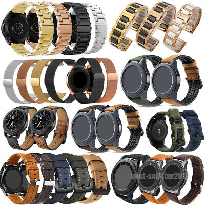 For Garmin Vivoactive 3 Music Ceramic/Genuine Leather/Stainless Steel Band Strap