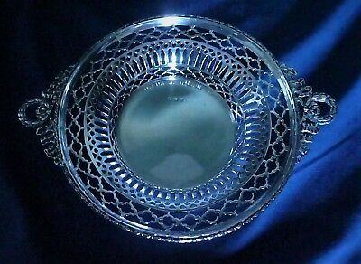 George V English Sterling Silver Pierced Work Dish by Henry Matthews