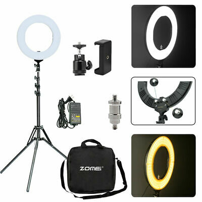 19 in 5500K Dimmable Diva LED Ring Light Diffuser Stand for Make Up Studio Video