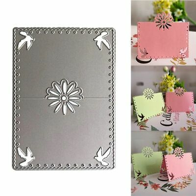 Flower Bird Card Cutting Die Embossing Stencil DIY Paper Crafts Scrapbook Decor