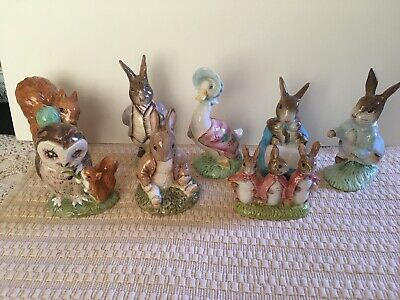 Beatrix Potter Royal Albert Lot of 8 Figurines