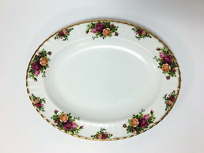 "ROYAL ALBERT 1962 OLD COUNTRY ROSES OVAL SERVING PLATTER 13.5"" England"