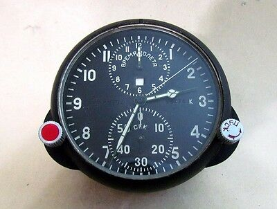 AChS-1 2 DAYS MILITARY AIRCRAFT MIG SU Cockpit USSR vintage CLOCK CHRONOGRAPH