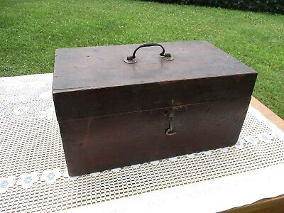 Antique 19thC Hand-Cut Dovetail Walnut Document Box