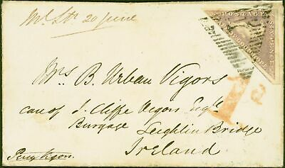 Cape of Good Hope 1858 Cover From Cape Town to Ireland Bearing 6d Rose-Lilac  Fi