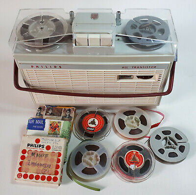 Philips EL3585 battery portable reel to reel tape recorder