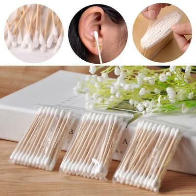 Hot Double Tip Makeup Cosmetic Remover Cotton Swabs Buds Eyelash Applicators NG